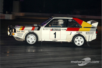 Stig Blomqvist in Audi Quatro Rally Car