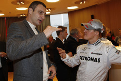 Michael Schumacher with boxer Vitali Klitschko