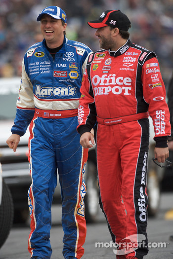 David Reutimann, Michael Waltrip Racing Toyota and Tony Stewart, Stewart-Haas Racing Chevrolet