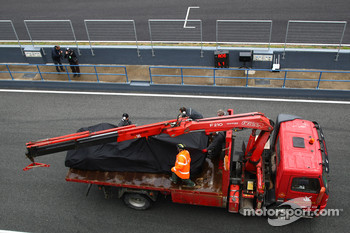 Nico Rosberg, Mercedes GP Petronas car being returned to the pits