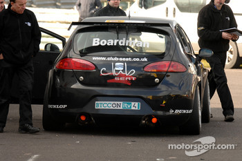 Tom Boardman with his Exhausts on fire