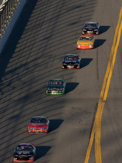 Robb Brent leads a group of cars