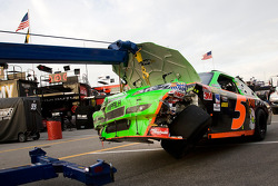 Wrecked car of Mark Martin, Hendrick Motorsports Chevrolet