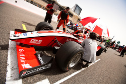 Jules Bianchi on pole position on the grid