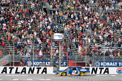 Kurt Busch, Penske Racing Dodge takes the checkered flag