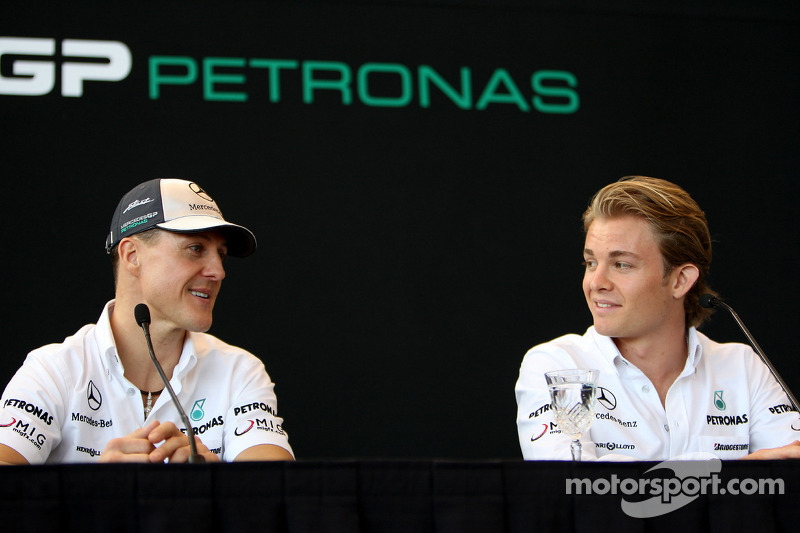 Michael Schumacher, Mercedes GP, Nick Heidfeld, Test Driver, Mercedes GP
