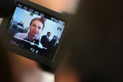Nico Rosberg, Mercedes GP does tv interviews