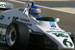 Keke Rosberg, 1982 F1 World Champion drives the 1982 Williams FW08