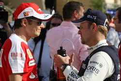 Giancarlo Fisichella, Test Driver, Scuderia Ferrari, Rubens Barrichello, Williams F1 Team