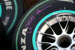 The Bridgestone tyres of Nico Rosberg, Mercedes GP