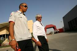Lewis Hamilton, McLaren Mercedes and Bernie Ecclestone