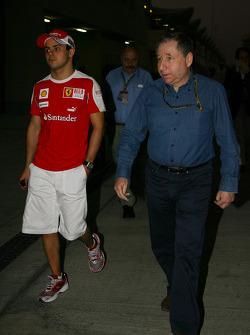 Felipe Massa, Scuderia Ferrari with Jean Todt, FIA president