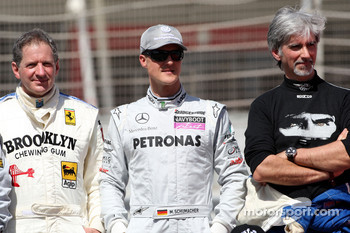 Jody Scheckter, 1979 F1 World Champion, Michael Schumacher, Mercedes GP, Damon Hill, 1996 F1 World Champion