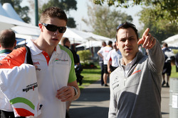Paul di Resta, Test Driver, Force India F1 Team, Gary Paffett, Test Driver, McLaren Mercedes
