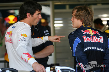 Mark Webber, Red Bull Racing with Sebastian Vettel, Red Bull Racing