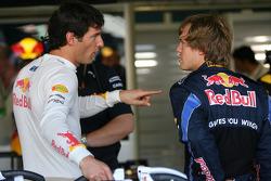 Mark Webber, Red Bull Racing with Sebastian Vettel, Red Bull Racing