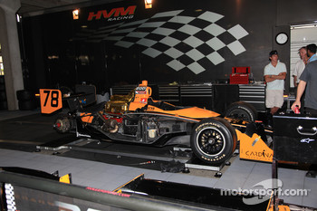 Car of Simona De Silvestro, HVM Racing at technical inspection