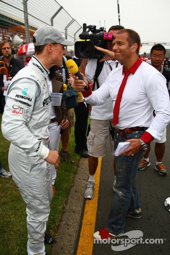 Michael Schumacher, Mercedes GP and Kai Ebel