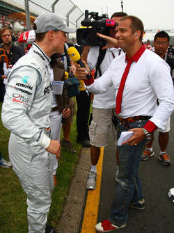 Michael Schumacher, Mercedes GP and Kai Ebel