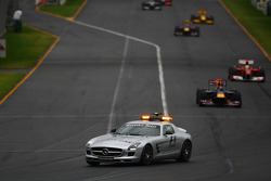 The Safety car was deployed during the first few laps