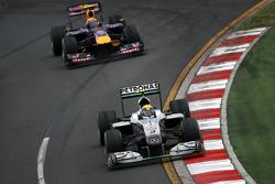 Nico Rosberg, Mercedes GP, Mark Webber, Red Bull Racing