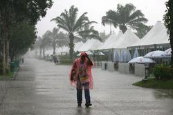 Thunderstorm hit the paddock