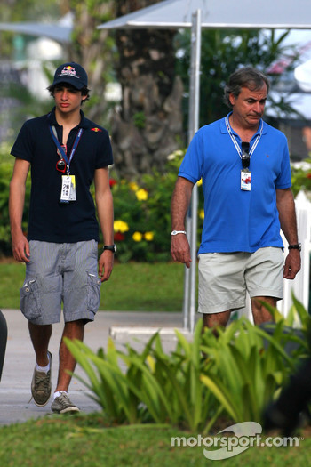 Carlos Sainz and his son Carlos Sainz Jr.
