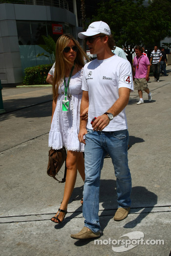Vivian Sibold the girlfriend of Nico Rosberg, Mercedes GP and Nico Rosberg, Mercedes GP