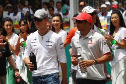 Michael Schumacher, Mercedes GP, Lewis Hamilton, McLaren Mercedes