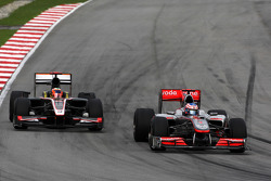 Jenson Button, McLaren Mercedes, Karun Chandhok, Hispania Racing F1 Team