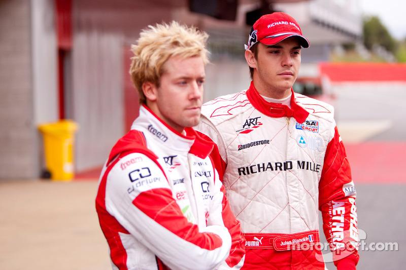 Jules Bianchi and Sam Bird
