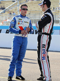 A.J. Allmendinger, Richard Petty Motorsports Ford and Sam Hornish Jr., Penske Racing Dodge