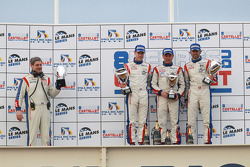 LMGT1 podium: class winners Gabriele Gardel, Patrice Goueslard and Julien Canal