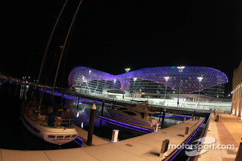 Yas Marina Circuit by night