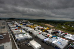 Overall view of the paddock