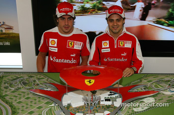 Fernando Alonso, Scuderia Ferrari and Felipe Massa, Scuderia Ferrari