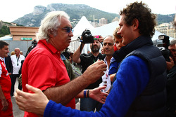 Flavio Briatore with John Elkann, the new president of the Fiat Group