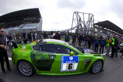 #6 Aston Martin Vantage V12 heads to the starting grid