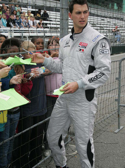 Graham Rahal, Rahal Letterman Racing signs autographs