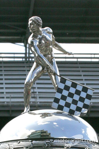 The refection of the Pogoda can be seen from the top of the Borg Warner Trophy