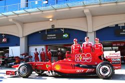 Fernando Alonso, Scuderia Ferrari with Stefano Domenicali Ferrari General Director and Felipe Massa, Scuderia Ferrari celebrate ferrari's 800th GP