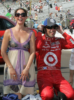 Ashley Judd & Dario Franchitti, Target Chip Ganassi Racing celebrate winning the 94th Indianapolis 500.
