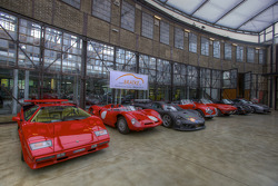 Lamborghini Countach and other cars in the main hall