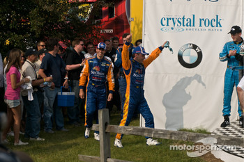 DP podium: DP winners #10 SunTrust Racing Ford Dallara: Max Angelelli, Ricky Taylor