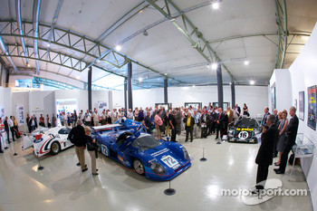 Ceremony to commemorate Jean Rondeau and Jean-Pierre Jaussaud 30th anniversary in the 1980 24 Hours of Le Mans: overall view