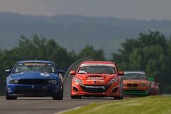 #2 Jim Click Racing Ford Mustang Boss 302 R: Jim Click, Mike McGovern, #03 Team MER Mazda Speed 3: Jason Saini, Justin Piscitell