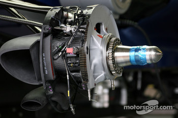 Red Bull Racing brake system detail