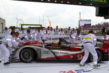 Race winner Timo Bernhard enters Parc Fermé