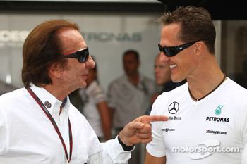 Emerson Fittipaldi and Michael Schumacher, Mercedes GP