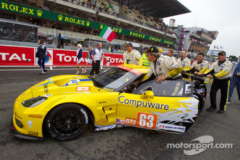 #63 Corvette Racing Chevrolet Corvette C6 ZRL on starting grid